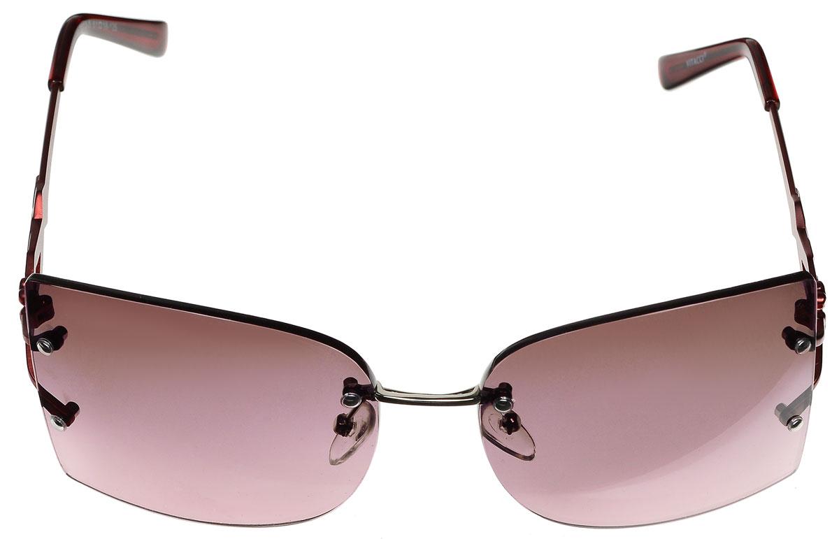 Очки солнцезащитные женские Vitacci, цвет: бордовый. H73H73Стильные солнцезащитные очки Vitacci выполнены из металла с элементами из высококачественного пластика. Линзы данных очков обладают высокоэффективным поляризационным покрытием со степенью защиты от ультрафиолетового излучения UV400. Используемый пластик не искажает изображение, не подвержен нагреванию и вредному воздействию солнечных лучей. Оправа очков легкая, прилегающей формы, дополнена носоупорами и поэтому обеспечивает максимальный комфорт. Дужки оформлены декоративными элементами. Такие очки защитят глаза от ультрафиолетовых лучей, подчеркнут вашу индивидуальность и сделают ваш образ завершенным.
