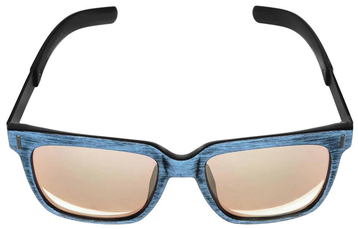 Очки солнцезащитные женские Vitacci, цвет: черный, голубой. O160O160Стильные солнцезащитные очки Vitacci выполнены из высококачественного пластика с элементами из металла. Линзы данных очков обладают высокоэффективным поляризационным покрытием со степенью защиты от ультрафиолетового излучения UV400. Используемый пластик не искажает изображение, не подвержен нагреванию и вредному воздействию солнечных лучей. Пластиковая оправа очков легкая, прилегающей формы и поэтому обеспечивает максимальный комфорт. Оправа имеет оригинальную фактуру, а дужки дополнены декоративными элементами из металла. Такие очки защитят глаза от ультрафиолетовых лучей, подчеркнут вашу индивидуальность и сделают ваш образ завершенным.