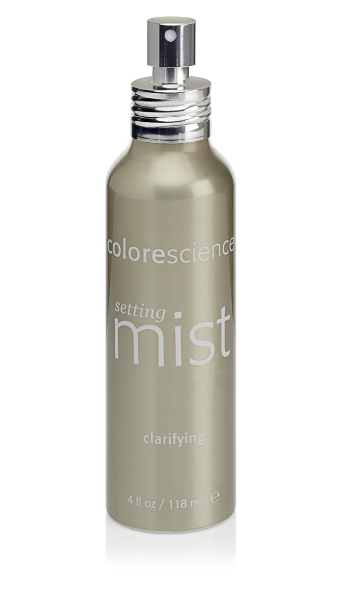 Colorescience Фиксирующий спрей для проблемной кожи Clarifying Setting Mist, 118 мл4607Rev1Помогает восстановить нарушенный баланс жирной и проблемной кожи. Успокаивает раздражения, связанные с проявлением акне. Помогает устранить признаки воспаления и обеспечивает антиоксидантную защиту. Превосходно удерживает нанесенный макияж и солнцезащитную минеральную пудру, оживляет и увлажняет кожу.