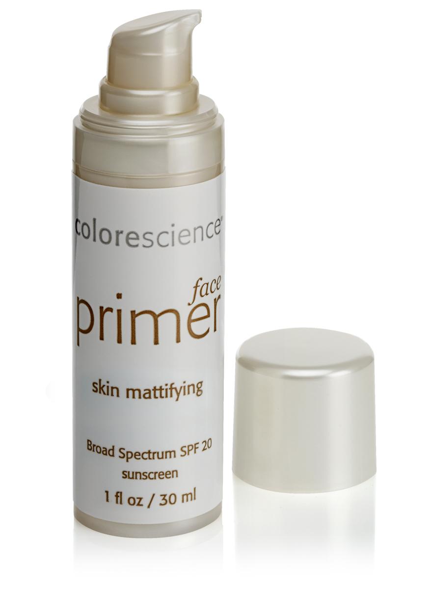 Colorescience Праймер (основа под макияж) матирующий SPF20, 30 мл8824Легкий матирующий эффект праймера помогает справиться с избыточным выделением кожного сала и жирным блеском. Универсальный телесный оттенок маскирует угревые высыпания и другие несовершенства проблемной кожи. Преимущества: - Помогает контролировать выделением кожного сала и появление жирного блеска на коже. - Универсальный телесный оттенок делает менее заметными несовершенства проблемной кожи.