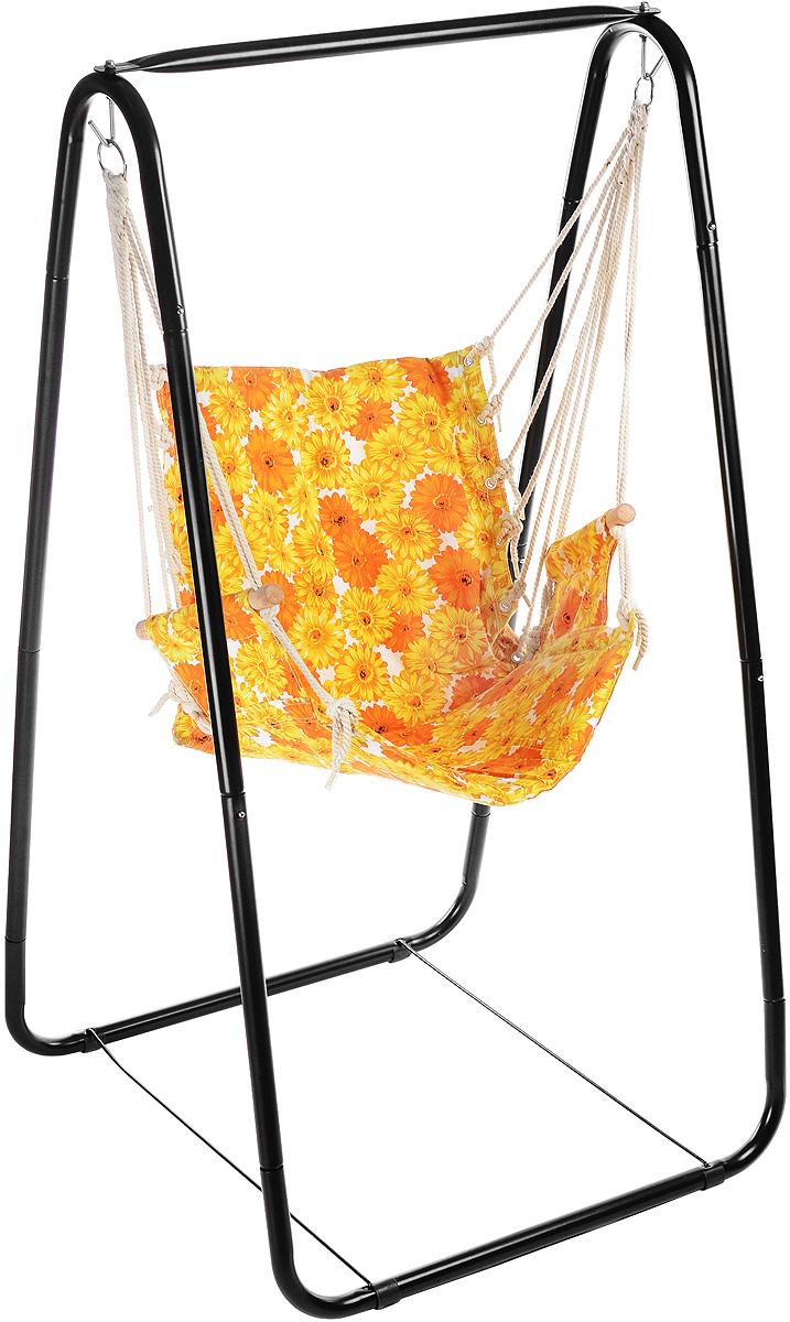 Гамак-качели Wildman81-177Гамак-качели Wildman – место для отдыха, которому всегда будут рады и на приусадебном участке, и в доме, и в квартире. Гамак способен сделать уютным и удобным любой летний отдых. Сборный каркас изделия выполнен из металла. Сиденье изготовлено из прочной ткани, крепится на конструкции при помощи веревок и двух металлических колец. Также сиденье имеет деревянные вставки в подлокотниках. Размер гамака-качелей: 84 х 86 х 161 см.