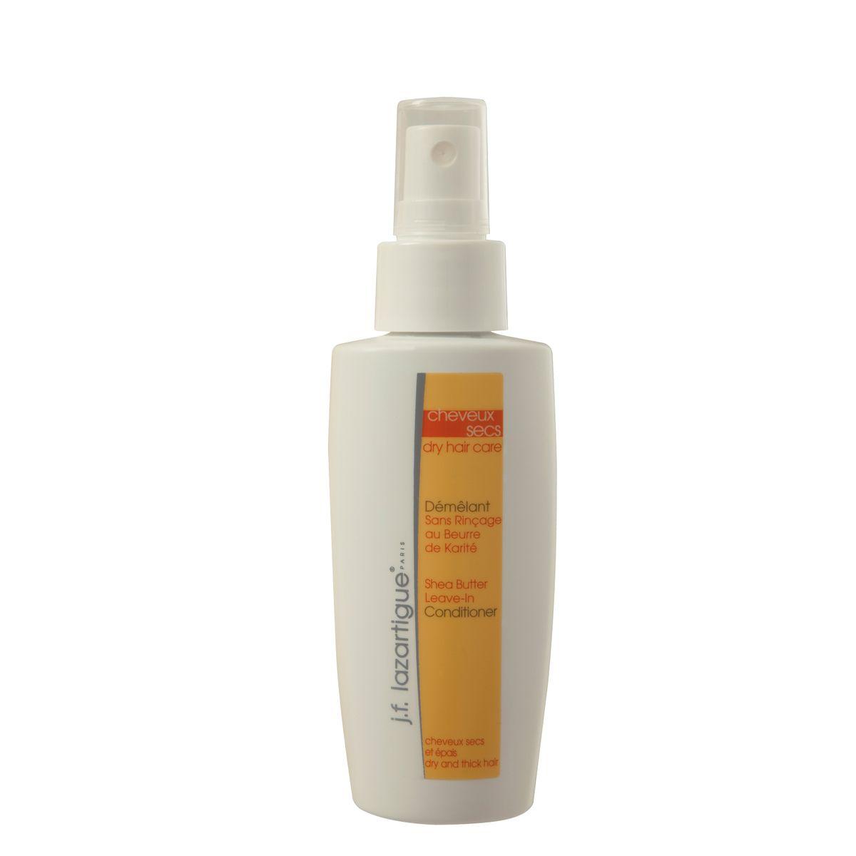 J.F.Lazartigue Кондиционер-спрей с маслом ши (карите) (для сухих и густых волос) 100 мл01308Благодаря высокому содержанию масла ши (карите) из плодов африканского масляного дерева кондиционер превосходно питает волосы, не вызывая их утяжеления, а увлажняющие и восстанавливающие блеск ингредиенты эффективно препятствуют спутыванию волос, облегчают их расчесывание. Волосы становятся блестящими и здоровыми, приобретают нежный аромат. Рекомендуется для густых (не тонких) и очень сухих волос.