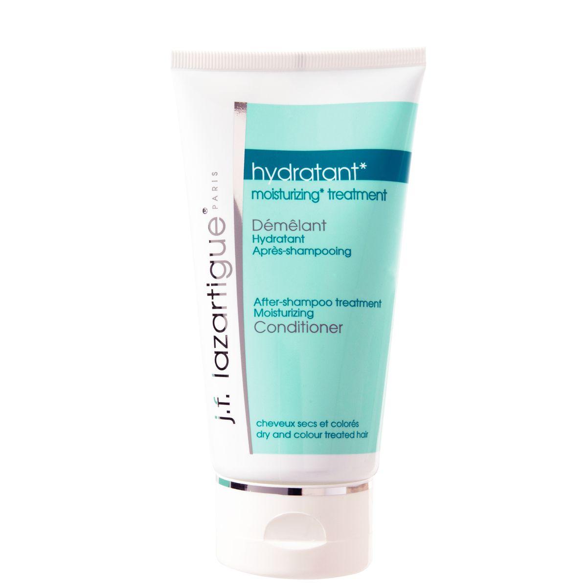 J.F.Lazartigue Увлажняющий кондиционер 150 мл01315Кондиционер увлажняет, восстанавливает и защищает волосы благодаря экстрактам мыльного дерева, сладкого миндаля и лесного ореха (лещины), а также протеинам сладкого миндаля и аминокислотам из пшеницы. Снимает статическое электричество, придает волосам мягкость и блеск, предотвращает спутывание и облегчает расчесывание. Окрашенные волосы дольше удерживают краску. Кондиционер дополняет и усиливает действие увлажняющего шампуня, очень удобен в применении, легко и равномерно распределяется по волосам.
