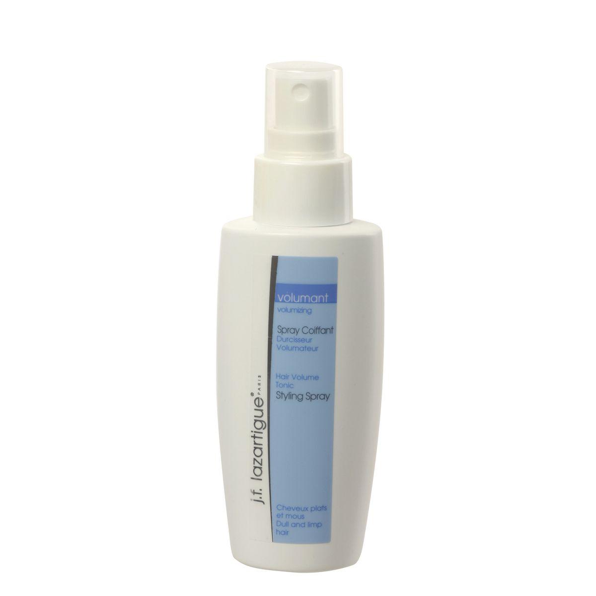J.F.Lazartigue Тоник-спрей для придания объема 100 мл01521Незаменимый продукт для очень редких, тонких и прилизанных волос. Придает прическе объем и форму, а волосам – блеск. Действие тоника проявляется мгновенно. Укладка держится на протяжении всего дня, волосы остаются блестящими и шелковистыми, меньше электризуются. Основу средства составляют компоненты, которые увеличивают толщину волос, покрывая их сверкающей защитной оболочкой.