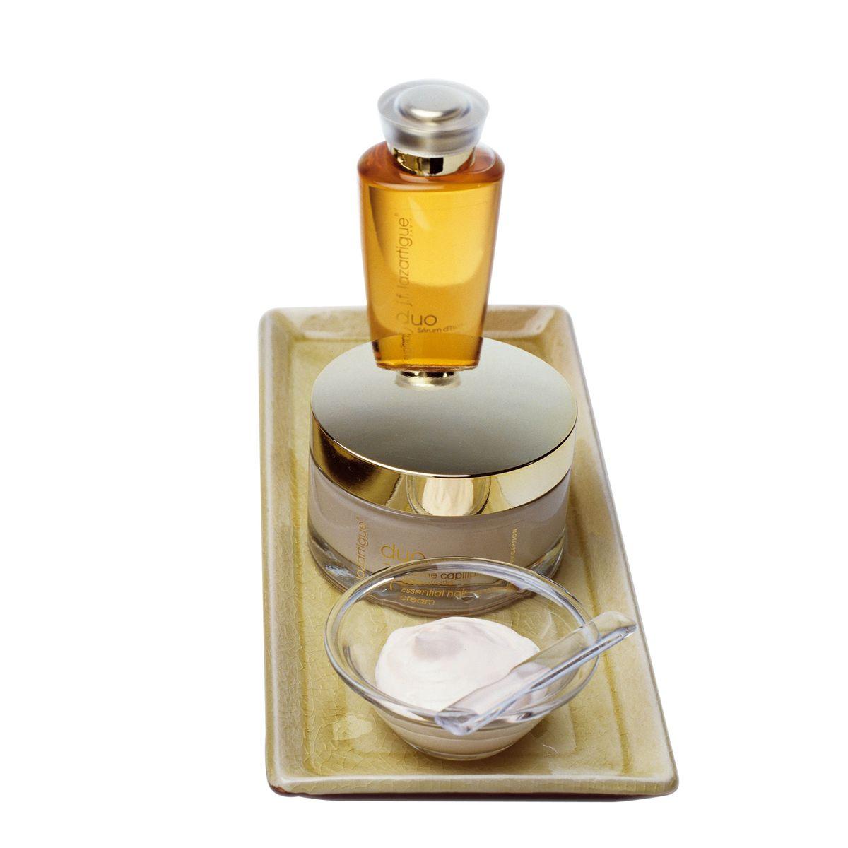 J.F.Lazartigue Набор Незаменимый дуэт КАМЕЛИЯ: Эссенциальный крем для волос (Essential Hair Cream),200 мл + Масляная сыворотка Камелия (Tea Oil Delicate Serum) 100 мл
