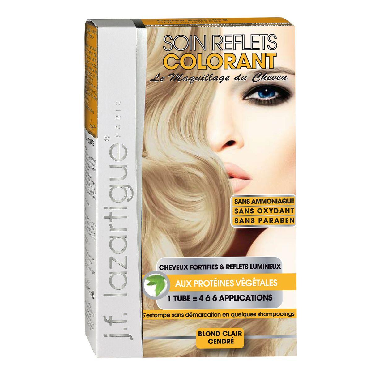 J.F.Lazartigue Оттеночный кондиционер для волос Светло-пепельный блондин 100 мл61621Оттеночный кондиционер J.F.LAZARTIGUE – это лечебный макияж для Ваших волос. Два эффекта: кондиционирование волос и легкий оттенок. Особенности: придает новый или более теплый (или холодный) оттенок, делает тон темнее или акцентирует цвет, оживляет естественный цвет или придает яркость тусклым и выцветшим на солнце волосам. Закрашивает небольшой процент седины! После мытья волос шампунем (3-6 раз) смывается. Для достижения индивидуального оттенка можно смешать два разных кондиционера: добавить к выбранному ТЕМНЫЙ РЫЖИЙ (Auburn), МЕДНЫЙ (Copper) и т.п. Не осветляет волосы. Не содержит аммиака и перекиси водорода. Не содержит парабенов. Не предназначен для окрашивания бровей и ресниц.