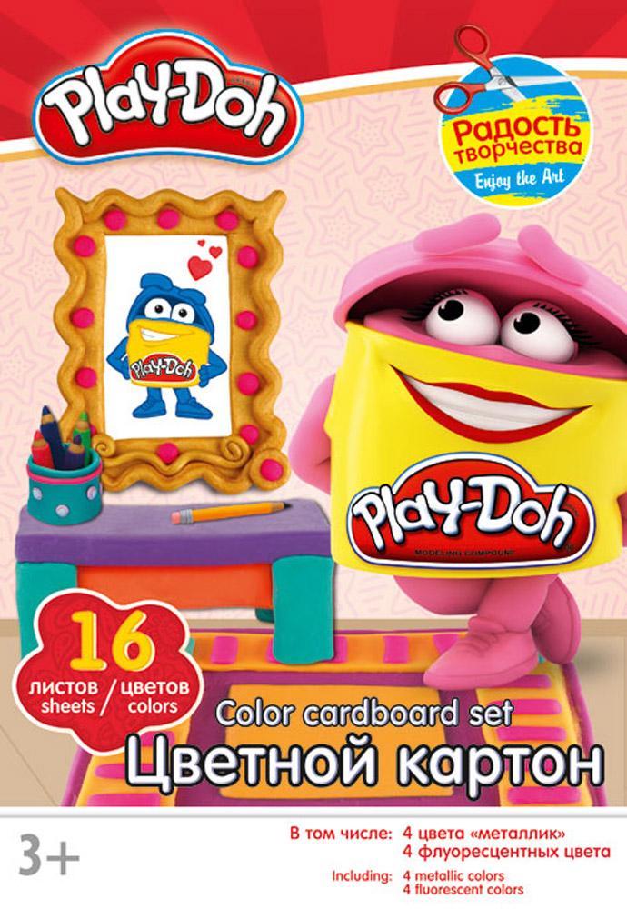 Play-Doh Набор цветного картона 16 листов цвет папки красныйPD2/2_цветная бумага, картонНабор цветного картона Play-Doh позволит вашему ребенку создавать всевозможные аппликации и поделки. Набор содержит 16 листов цветного картона, в том числе четыре цвета металлик и четыре флуоресцентных цвета. Листы упакованы в оригинальный картонный конверт. Создание поделок из картона поможет ребенку в развитии творческих способностей, кроме того, это увлекательный досуг.