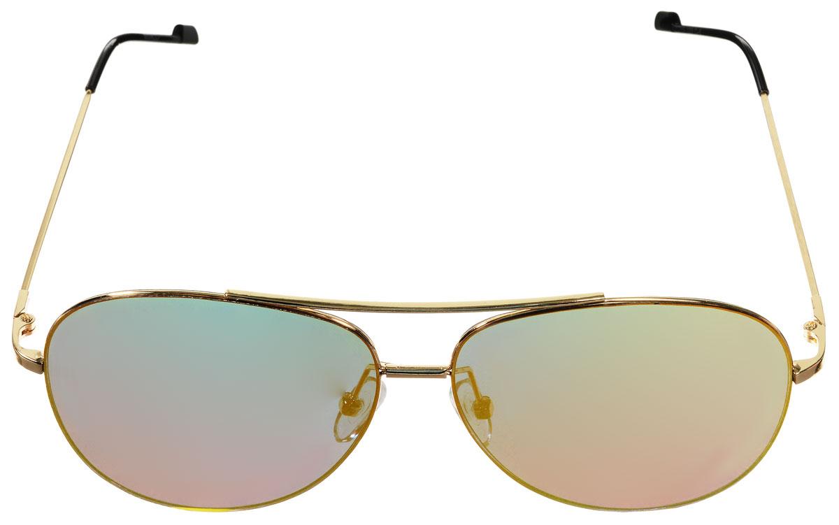 Очки солнцезащитные женские Vitacci, цвет: золотой, черный. O186O186Стильные солнцезащитные очки Vitacci выполнены из металла с элементами из высококачественного пластика. Линзы данных очков имеют степень затемнения С6, а также обладают высокоэффективным поляризационным покрытием со степенью защиты от ультрафиолетового излучения UV400. Используемый пластик не искажает изображение, не подвержен нагреванию и вредному воздействию солнечных лучей. Оправа очков легкая, прилегающей формы, дополнена носоупорами и поэтому обеспечивает максимальный комфорт. Такие очки защитят глаза от ультрафиолетовых лучей, подчеркнут вашу индивидуальность и сделают ваш образ завершенным.