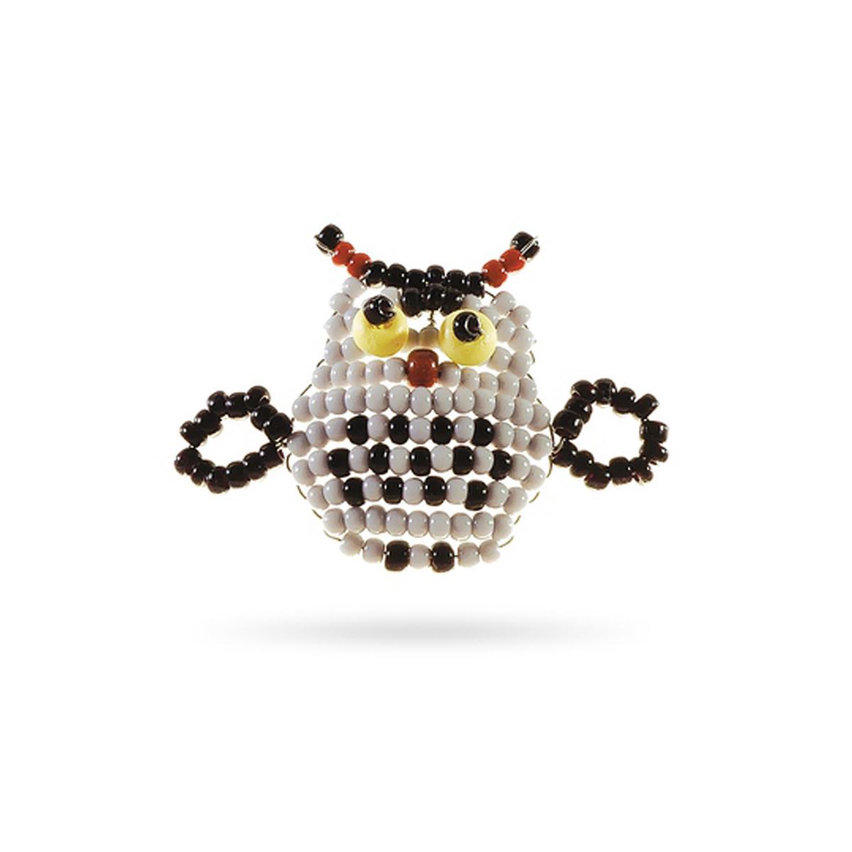 Набор для бисероплетения Кроше Совенок645171В последнее время плетение бисером набирает популярность среди рукодельниц. Научиться созданию изделий из маленьких ярких бусинок вполне реально, это будет под силу даже детям. Вашему вниманию предлагается многообразие наборов по бисероплению от бренда Кроше. Выбирайте любой из понравившихся и приступайте к созданию шедевра. Состав набора: чешский бисер, проволока для бисера, схема и описание к работе.