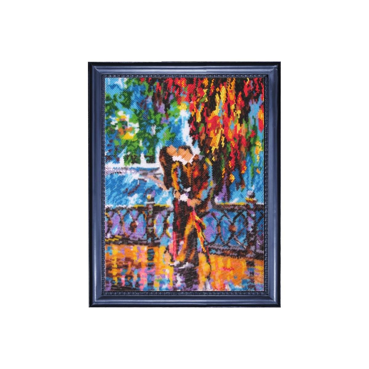 Набор для вышивания бисером Кроше Поцелуй после дождя, 35 х 26 см485802Очаровательные наборы для вышивания бисером от украинского бренда Butterfly не оставят равнодушными всех любителей этого вида рукоделия. В состав набора Поцелуй после дождя входит: ткань с нанесенным полноцветным рисунком, бисер Preciosa Ornela (Чехия) - 23 цвета, игла для вышивания, инструкция.