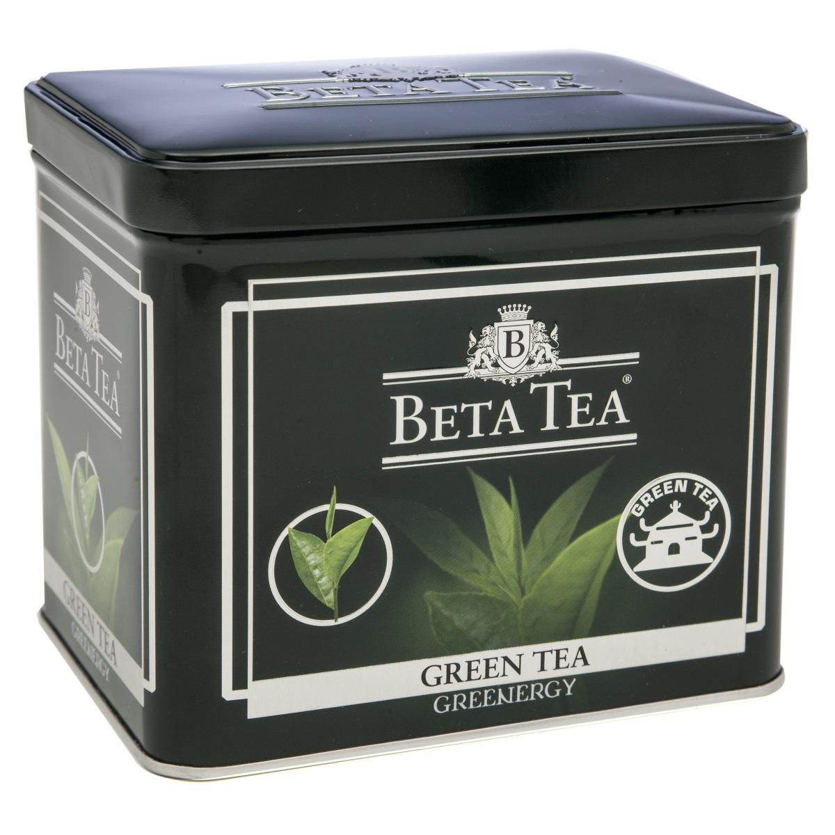 Beta Tea зеленый листовой чай, 100 г (жестяная банка)8690717005300Благодаря своим целебным свойствам зеленый чай Beta Tea занимает особое место в ассортименте компании. Основная задача при производстве этого сорта состоит в том, чтобы сохранить лечебные природные биологически активные вещества свежих листьев таким образом, чтобы они смогли высвободиться во время заваривания.