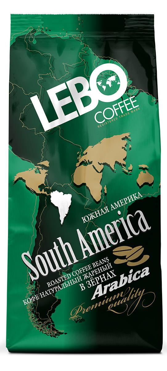 Lebo Южная Америка Арабика кофе в зернах, 250 г