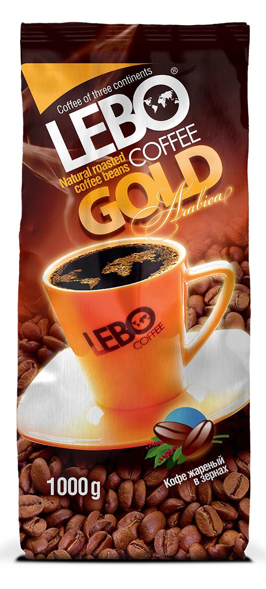 Lebo Gold Арабика кофе в зернах, 1 кг4602076001101Натуральный жареный кофе в зернах Lebo Gold приготовлен из отборных сортов кофе, выращенных на высокогорных плантациях Центральной и Южной Америки, Африки. Кофе с ярко выраженным, изысканным, богатым вкусом, с легкой кислинкой, цветочными нотами и карамельным послевкусием. С самого первого глотка его бодрящий вкус и деликатный, богатый аромат покорит даже самого настоящего гурмана.