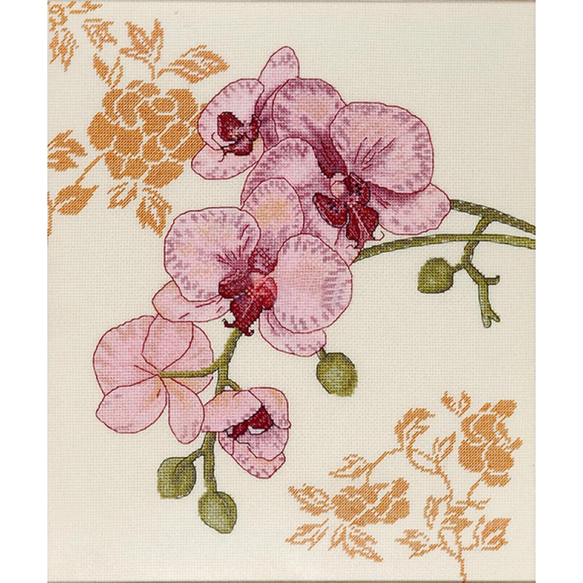 Набор для вышивания Alisena Орхидея - 1, 27 х 31 см. 549784549784Красивые и душевные наборы для вышивания Alisena, укомплектованные качественными материалами, помогут создать вам маленький шедевр. В состав набора для вышивания Орхидея - 1 входит: канва аида 16 Zweigart - 100% хлопок, мулине Anchor - 14 цветов, игла, цветная схема, инструкция.