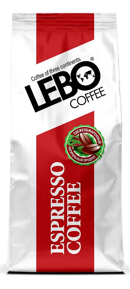 Lebo Espresso Арабика кофе в зернах, 500 г4602076001163Натуральный жареный кофе в зернах Lebo Espresso создан из отборных сортов кофе с плантаций Центральной и Южной Америки, Африки и Индии. Соединяя в себе свежесть и бархатный вкус, кофе Lebo Espresso может стать отличным началом дня, а также украсить ваш вечер. Темная обжарка, яркий вкус и богатый аромат - все это делает кофе неповторимым. Вкус кофе богатый, плотный, пряный, теплый и обволакивающий, с шоколадной горчинкой и миндальными переливами в послевкусии. С самого первого глотка его бодрящий вкус и деликатный, богатый аромат покорит даже самого настоящего гурмана.
