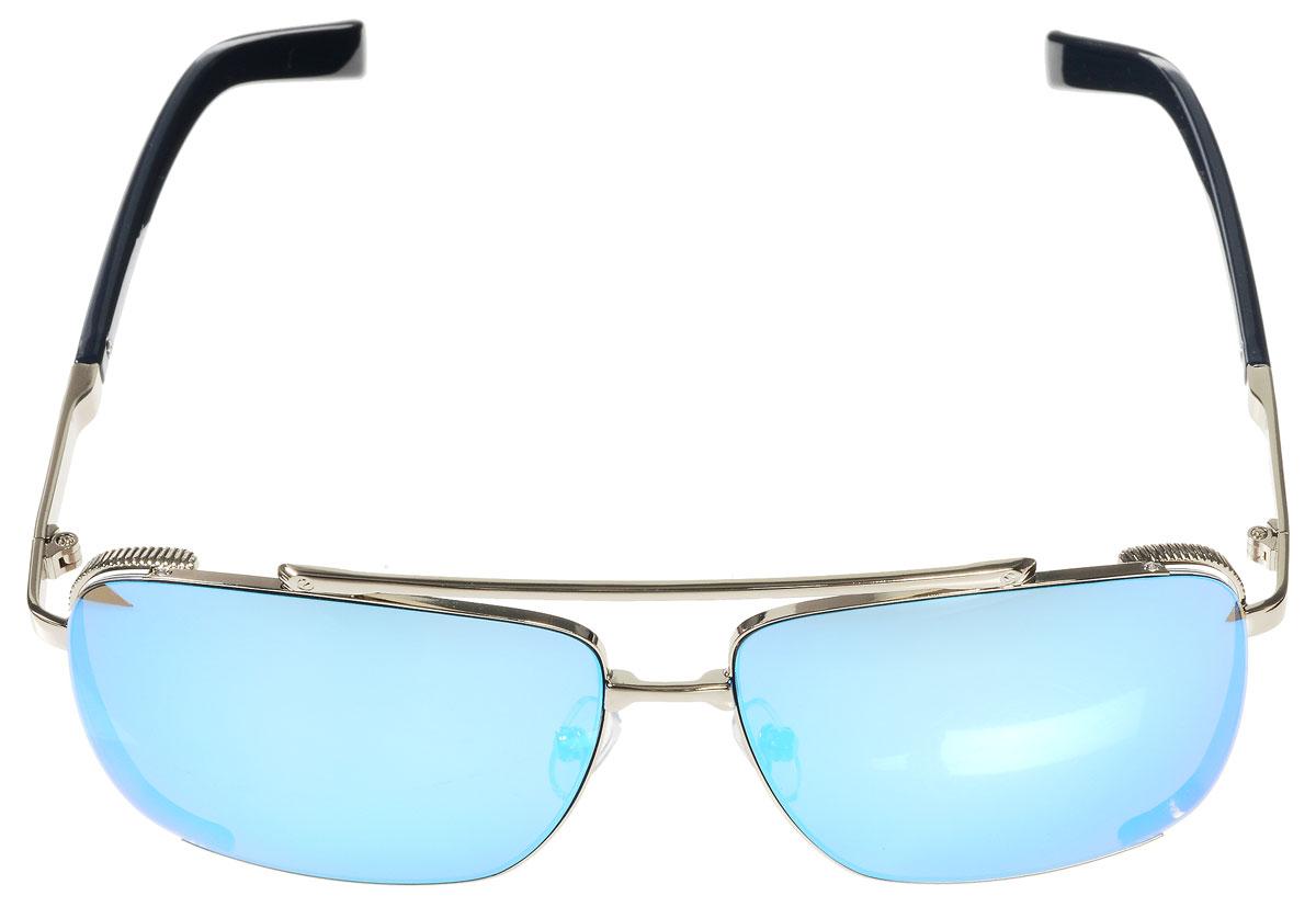 Очки солнцезащитные женские Vitacci, цвет: серебряный, синий. G166G166Стильные солнцезащитные очки Vitacci выполнены из металла с элементами из высококачественного пластика. Линзы данных очков имеют степень затемнения С5, а также обладают высокоэффективным поляризационным покрытием со степенью защиты от ультрафиолетового излучения UV400. Используемый пластик не искажает изображение, не подвержен нагреванию и вредному воздействию солнечных лучей. Оправа очков легкая, прилегающей формы, дополнена носоупорами и поэтому обеспечивает максимальный комфорт. Такие очки защитят глаза от ультрафиолетовых лучей, подчеркнут вашу индивидуальность и сделают ваш образ завершенным.