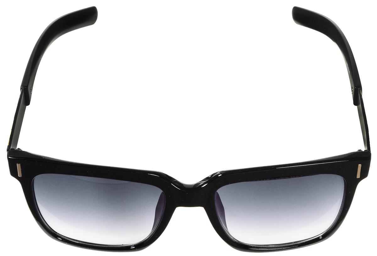 Очки солнцезащитные женские Vitacci, цвет: черный, золотой. O158O158Стильные солнцезащитные очки Vitacci выполнены из высококачественного пластика с элементами из металла. Линзы данных очков обладают высокоэффективным поляризационным покрытием со степенью защиты от ультрафиолетового излучения UV400. Используемый пластик не искажает изображение, не подвержен нагреванию и вредному воздействию солнечных лучей. Пластиковая оправа очков легкая, прилегающей формы и поэтому обеспечивает максимальный комфорт. Дужки дополнены декоративными элементами из металла. Такие очки защитят глаза от ультрафиолетовых лучей, подчеркнут вашу индивидуальность и сделают ваш образ завершенным.