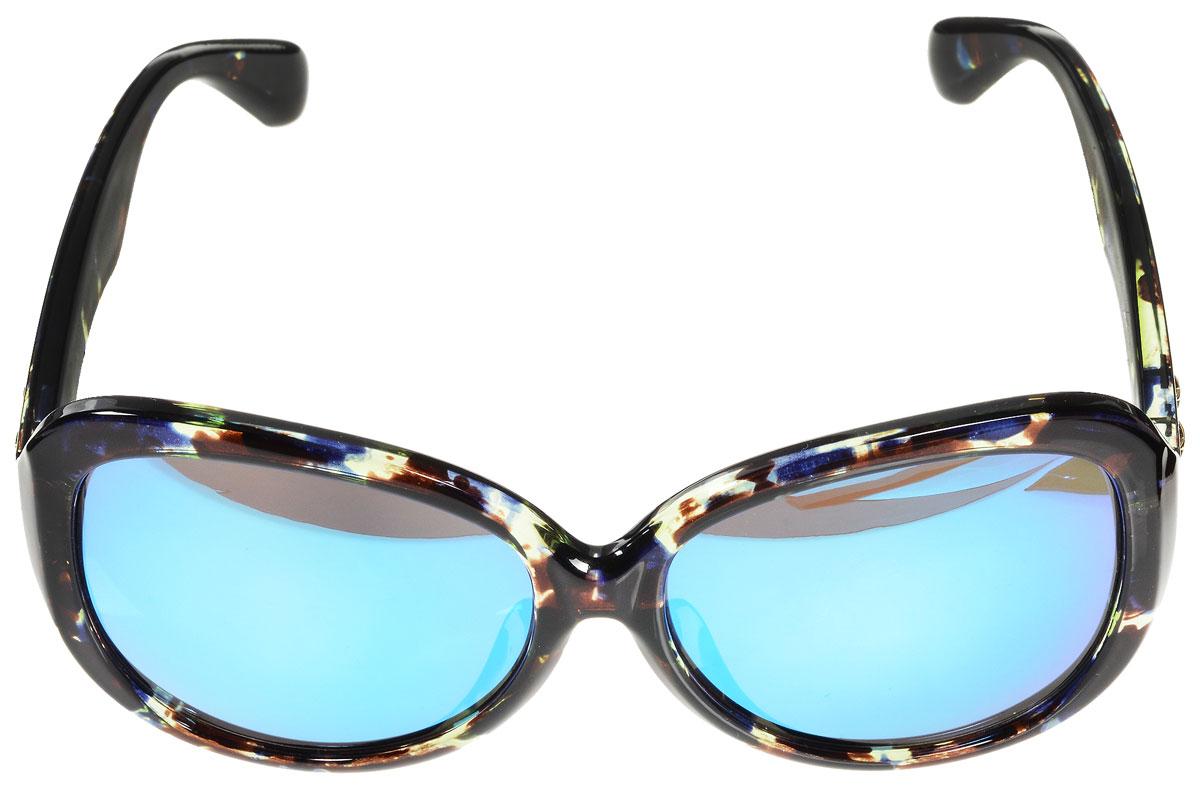 Очки солнцезащитные женские Vitacci, цвет: мультицвет. O147O147Стильные солнцезащитные очки Vitacci выполнены из высококачественного пластика с элементами из металла. Линзы данных очков имеют степень затемнения С4, а также обладают высокоэффективным поляризационным покрытием со степенью защиты от ультрафиолетового излучения UV400. Используемый пластик не искажает изображение, не подвержен нагреванию и вредному воздействию солнечных лучей. Пластиковая оправа очков легкая, прилегающей формы и поэтому обеспечивает максимальный комфорт. Дужки оформлены декоративными элементами в виде звездочек. Такие очки защитят глаза от ультрафиолетовых лучей, подчеркнут вашу индивидуальность и сделают ваш образ завершенным.