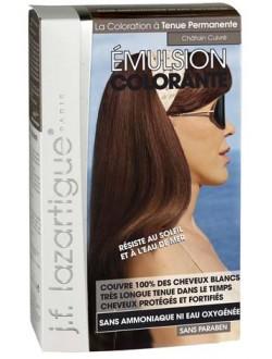 J.F.Lazartigue Оттеночная эмульсия для волос Медно-каштановый 60 мл01725Благодаря оригинальной формуле полностью (на 100%) скрывает седину, длительное время сохраняет цвет, поддерживает здоровье и жизненную силу волос и сохраняет эти качества, несмотря на воздействие солнечных лучей, морской воды и прочих неблагоприятных экологических факторов. Не осветляет, не повреждает, а укрепляет волосы. Не содержит аммиака, перекиси водорода и парабенов. Не предназначена для окрашивания бровей и ресниц.