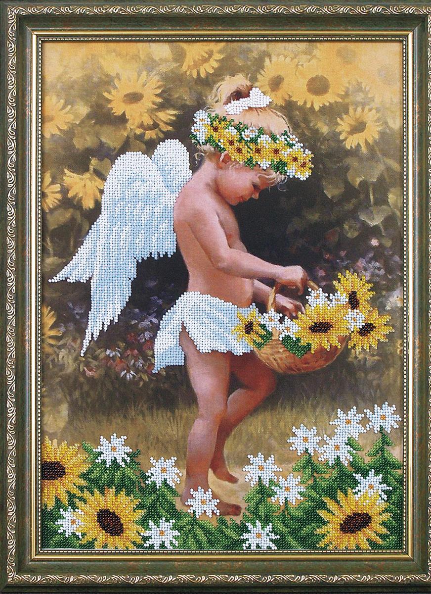 Набор для вышивания бисером Магия канвы Мой ангел, 27 х 38 см309016Наборы для вышивания бисером Магия канвы - это качественные материалы и красивые сюжеты, которые помогут вам создать маленькое чудо. В состав набора для вышивания бисером Мой ангел входит: уплотненная ткань с нанесенным рисунком, бисер Preciosa (Чехия) - 11 цветов, игла, инструкция.