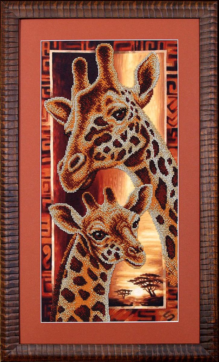 Набор для вышивания бисером Магия канвы Африка. Жирафы, 22 х 46 см309051Наборы для вышивания бисером Магия канвы - это качественные материалы и красивые сюжеты, которые помогут вам создать маленькое чудо. В состав набора для вышивания бисером Африка: Жирафы входит: уплотненная ткань с нанесенным рисунком, бисер Preciosa (Чехия) - 6 цветов, игла, инструкция.