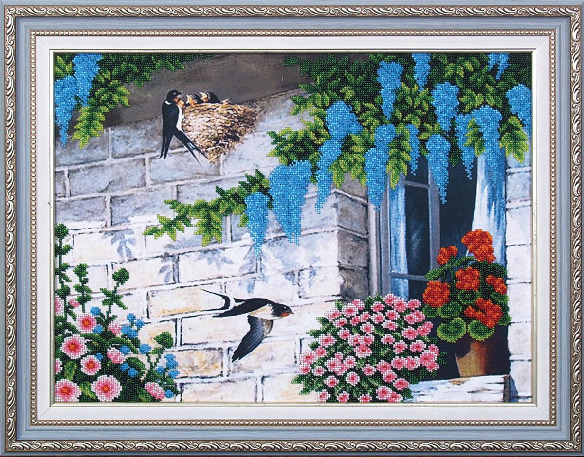 Набор для вышивания бисером Магия канвы Ласточкино гнездо, 43,5 х 32,5 см309078Наборы для вышивания бисером Магия канвы - это качественные материалы и красивые сюжеты, которые помогут вам создать маленькое чудо. В состав набора для вышивания бисером Ласточкино гнездо входит: уплотненная ткань с нанесенным рисунком, бисер Preciosa (Чехия) - 16 цветов, игла, инструкция.