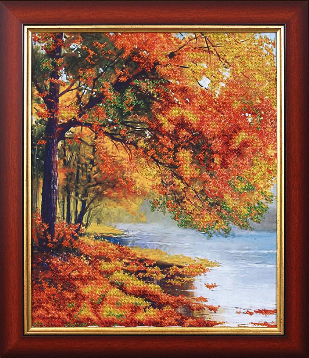 Набор для вышивания бисером Магия канвы Осенний берег, 34 х 42 см309079Наборы для вышивания бисером Магия канвы - это качественные материалы и красивые сюжеты, которые помогут вам создать маленькое чудо. В состав набора для вышивания бисером Осенний берег входит: уплотненная ткань с нанесенным рисунком, бисер Preciosa (Чехия) - 16 цветов, игла, инструкция.