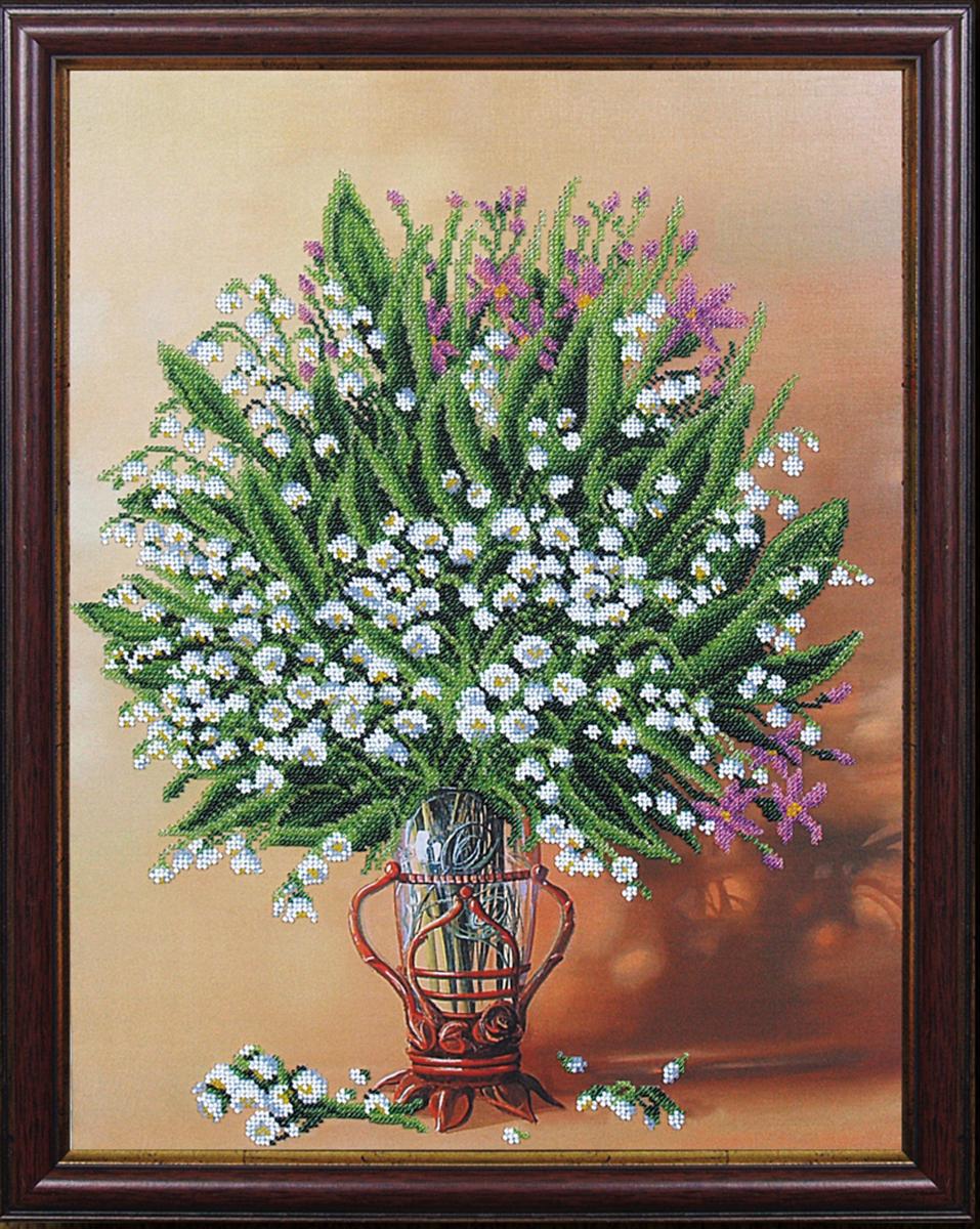 Набор для вышивания бисером Магия канвы Весенняя ваза, 33,5 х 44 см485292Наборы для вышивания бисером Магия канвы - это качественные материалы и красивые сюжеты, которые помогут вам создать маленькое чудо. В состав набора для вышивания бисером Весенняя ваза входит: уплотненная ткань с нанесенным рисунком, бисер Preciosa (Чехия) - 13 цветов, игла, инструкция.
