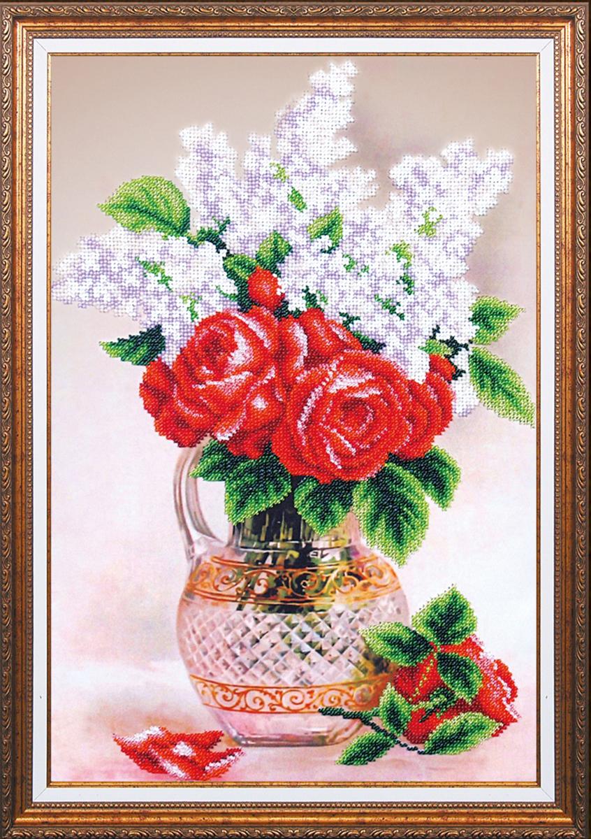 Набор для вышивания бисером Магия канвы Весенняя свежесть, 26,5 х 38,5 см486748Наборы для вышивания бисером Магия канвы - это качественные материалы и красивые сюжеты, которые помогут вам создать маленькое чудо. В состав набора для вышивания бисером Весенняя свежесть входит: уплотненная ткань с нанесенным рисунком, бисер Preciosa (Чехия) - 15 цветов, игла, инструкция.