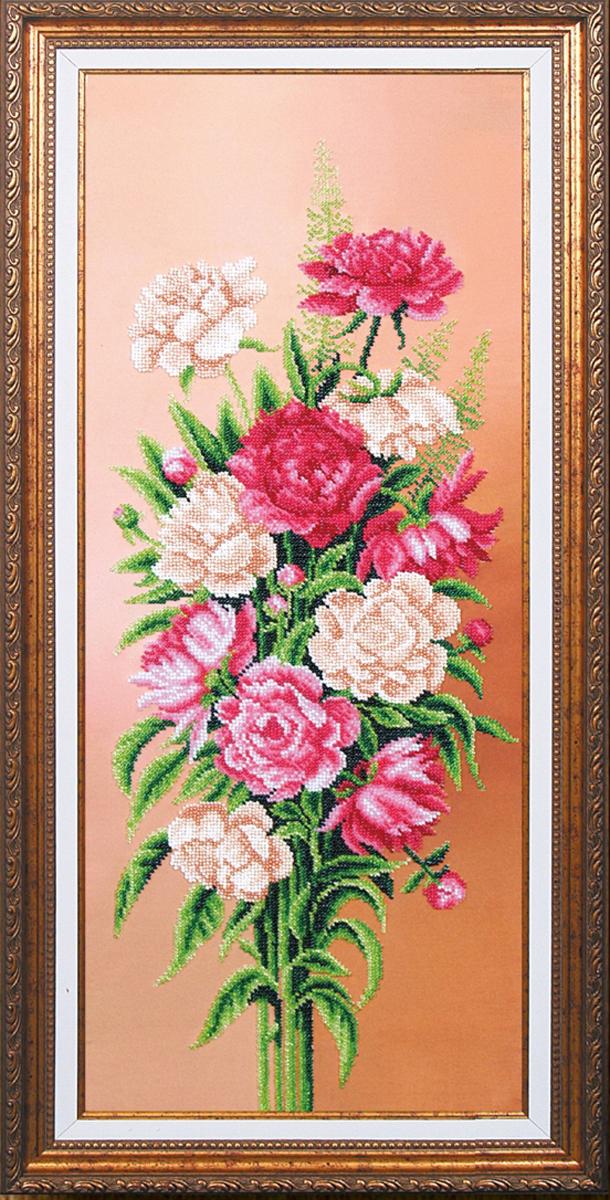Набор для вышивания бисером Магия канвы Вдохновение. Пионы, 61 х 25 см486959Наборы для вышивания бисером Магия канвы - это качественные материалы и красивые сюжеты, которые помогут вам создать маленькое чудо. В состав набора для вышивания бисером Вдохновение. Пионы входит: уплотненная ткань с нанесенным рисунком, бисер Preciosa (Чехия) - 17 цветов, игла, инструкция.