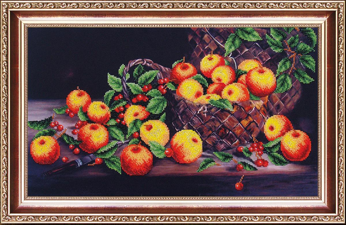 Набор для вышивания бисером Магия канвы Яблочный спас, 46 х 27 см486961Наборы для вышивания бисером Магия канвы - это качественные материалы и красивые сюжеты, которые помогут вам создать маленькое чудо. В состав набора для вышивания бисером Яблочный спас входит: уплотненная ткань с нанесенным рисунком, бисер Preciosa (Чехия) - 14 цветов, игла, инструкция.