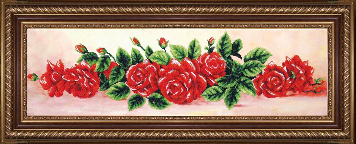 Набор для вышивания бисером Магия канвы К твоим ногам, 69 х 19,5 см486969Наборы для вышивания бисером Магия канвы - это качественные материалы и красивые сюжеты, которые помогут вам создать маленькое чудо. В состав набора для вышивания бисером К твоим ногам входит: уплотненная ткань с нанесенным рисунком, бисер Preciosa (Чехия) - 11 цветов, игла, инструкция.