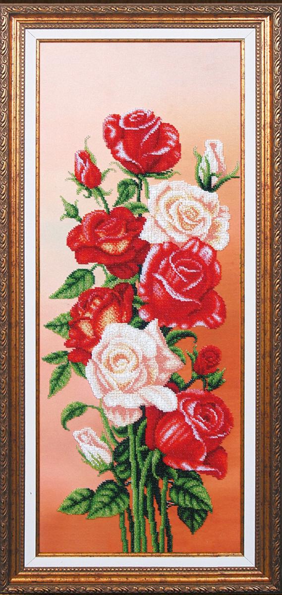Набор для вышивания бисером Магия канвы Вдохновение. Розы, 61 х 25 см486972Наборы для вышивания бисером Магия канвы - это качественные материалы и красивые сюжеты, которые помогут вам создать маленькое чудо. В состав набора для вышивания бисером Вдохновение Розы входит: уплотненная ткань с нанесенным рисунком, бисер Preciosa (Чехия) - цветов, игла, инструкция.