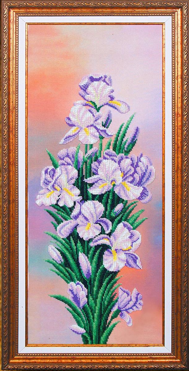 Набор для вышивания бисером Магия канвы Вдохновение. Ирисы, 61 х 24,5 см488358Наборы для вышивания бисером Магия канвы - это качественные материалы и красивые сюжеты, которые помогут вам создать маленькое чудо. В состав набора для вышивания бисером Вдохновение Ирисы входит: уплотненная ткань с нанесенным рисунком, бисер Preciosa (Чехия) - 14 цветов, игла, инструкция.