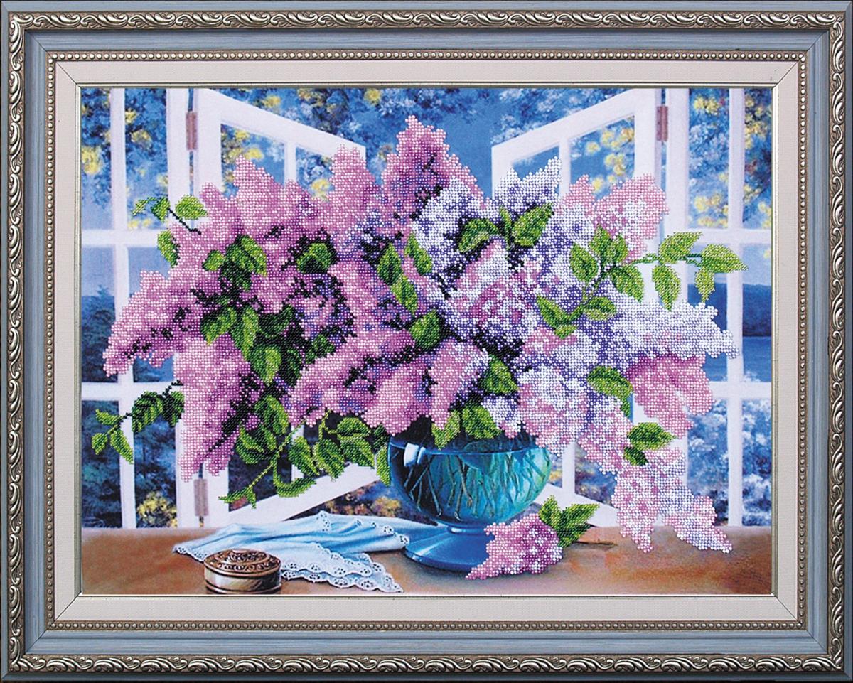 Набор для вышивания бисером Магия канвы Дыхание весны, 44 х 34 см545265Наборы для вышивания бисером Магия канвы - это качественные материалы и красивые сюжеты, которые помогут вам создать маленькое чудо. В состав набора для вышивания бисером Дыхание весны входит: уплотненная ткань с нанесенным рисунком, бисер Preciosa (Чехия) - 14 цветов, игла, инструкция.