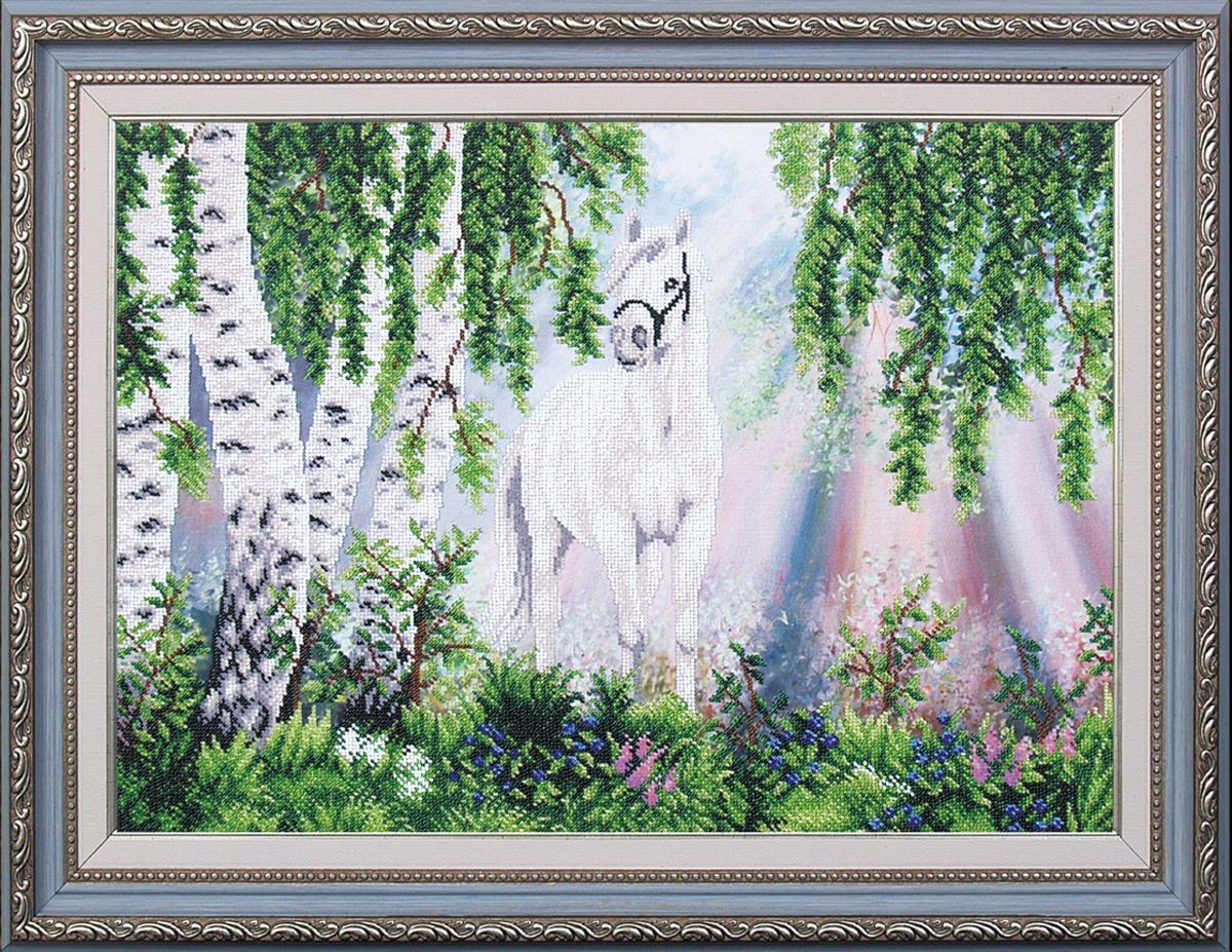 Набор для вышивания бисером Магия канвы На заре, 55,5 х 38,5 см547760Наборы для вышивания бисером Магия канвы - это качественные материалы и красивые сюжеты, которые помогут вам создать маленькое чудо. В состав набора для вышивания бисером На заре входит: уплотненная ткань с нанесенным рисунком, бисер Preciosa (Чехия) - 18 цветов, игла, инструкция.