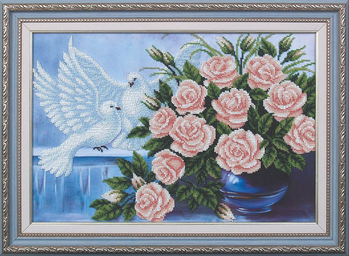 Набор для вышивания бисером Магия канвы На счастье, 42 х 29 см692412Наборы для вышивания бисером Магия канвы - это качественные материалы и красивые сюжеты, которые помогут вам создать маленькое чудо. В состав набора для вышивания бисером На счастье входит: уплотненная ткань с нанесенным рисунком, бисер Preciosa (Чехия) - 16 цветов, игла, инструкция.