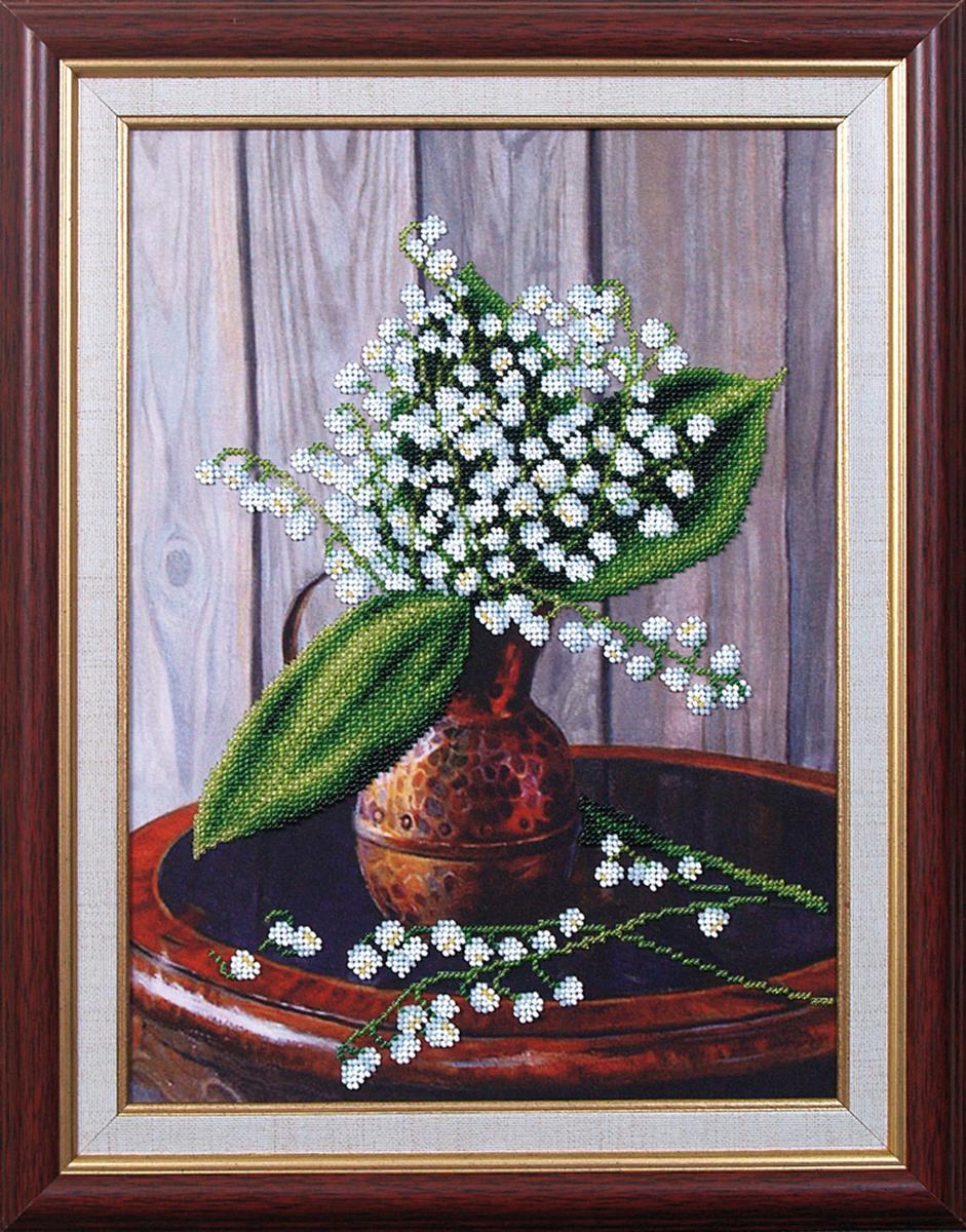 Набор для вышивания бисером Магия канвы Ландыши, 24 х 33 см693299Наборы для вышивания бисером Магия канвы - это качественные материалы и красивые сюжеты, которые помогут вам создать маленькое чудо. В состав набора для вышивания бисером Ландыши входит: уплотненная ткань с нанесенным рисунком, бисер Preciosa (Чехия) - 10 цветов, игла, инструкция.