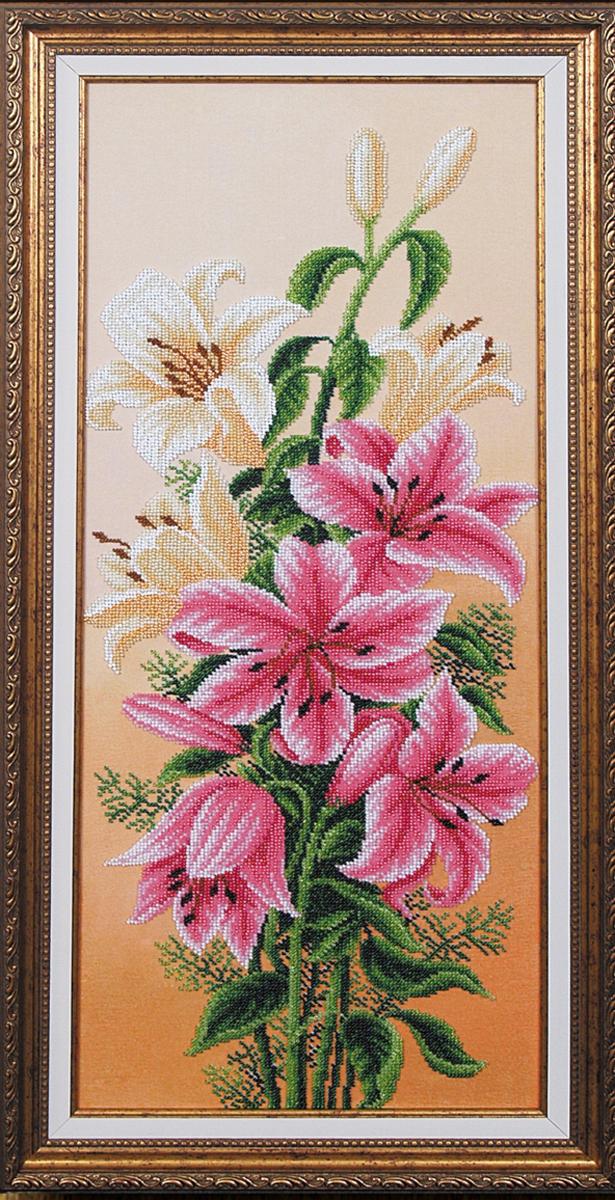 Набор для вышивания бисером Магия канвы Вдохновение лилии, 61 х 24 см695237Наборы для вышивания бисером Магия канвы - это качественные материалы и красивые сюжеты, которые помогут вам создать маленькое чудо. В состав набора для вышивания бисером Вдохновение лилии входит: уплотненная ткань с нанесенным рисунком, бисер Preciosa (Чехия) - 16 цветов, игла, инструкция.