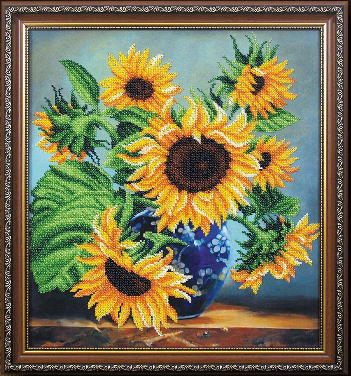 Набор для вышивания бисером Магия канвы Солнечная поэзия, 36 х 32 см695241Наборы для вышивания бисером Магия канвы - это качественные материалы и красивые сюжеты, которые помогут вам создать маленькое чудо. В состав набора для вышивания бисером Солнечная поэзия входит: уплотненная ткань с нанесенным рисунком, бисер Preciosa (Чехия) - 14 цветов, игла, инструкция.