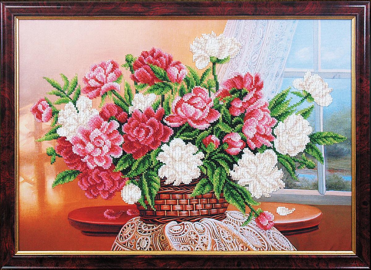 Набор для вышивания бисером Магия канвы Аромат весны, 45 х 31 см695242Наборы для вышивания бисером Магия канвы - это качественные материалы и красивые сюжеты, которые помогут вам создать маленькое чудо. В состав набора для вышивания бисером Аромат весны входит: уплотненная ткань с нанесенным рисунком, бисер Preciosa (Чехия) - 15 цветов, игла, инструкция.