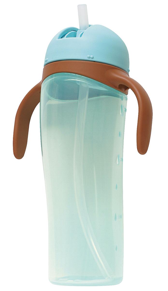 PIGEON Поильник высокий с трубочкой, голубой, 330мл33491527Рекомендуется для детей с 9-ти месяцев. Подходит для любых напитков - воды, сока и др. Легкий безопасный материал, удобные ручки позволяет ребенку легко держать поильник. Удобный замок-слайдер позволяет легко открыть поильник, а надежный клапан не допустит случайное проливание. Мягкая силиконовая трубочка не травмирует ротик ребенка.Не содержит Бисфенол А.Поильник можно использовать без ручек. Легко разбирается и собирается, удобен для мытья. Состав: полипропилен, силикон Меры предосторожности: Использовать по назначению.
