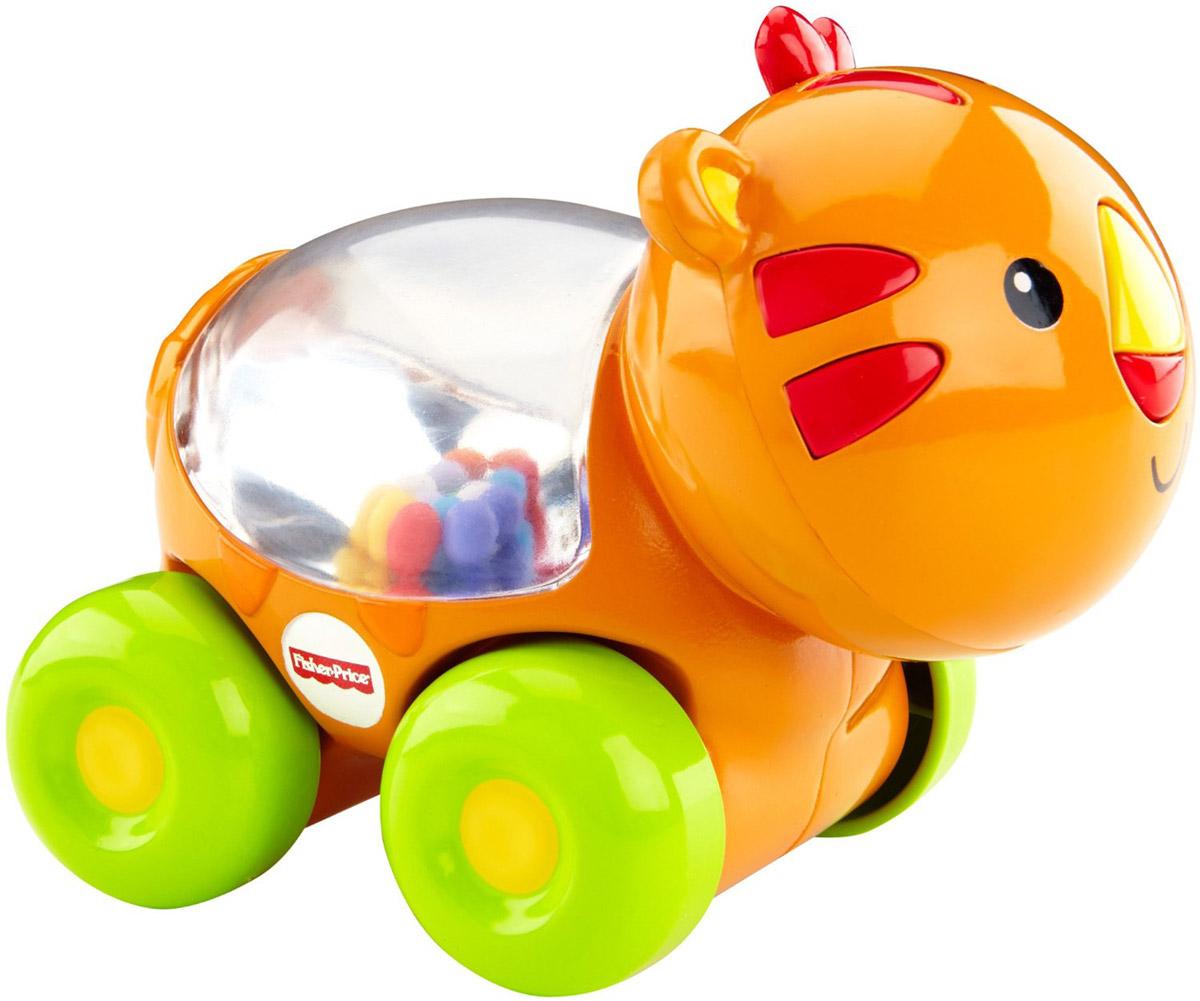Fisher-Price Развивающая игрушка Тигренок с прыгающими шарикамиBGX29_CMV97Развивающая игрушка Fisher-Price Тигренок с прыгающими шариками надолго займет внимание вашего малыша. Игрушка выполнена из безопасного пластика ярких цветов в виде милого тигренка на четырех колесиках и предназначена для детей возрастом 6 до 36 месяцев. Внутри игрушки под прозрачным окошком находятся красочные шарики, которые весело прыгают в то время, когда ребенок толкает игрушку вперед или назад. Размер игрушки идеален для захвата детской ручкой. Игрушка развивает общую моторику, любознательность и тягу к новым открытиям, а также сенсорные навыки.