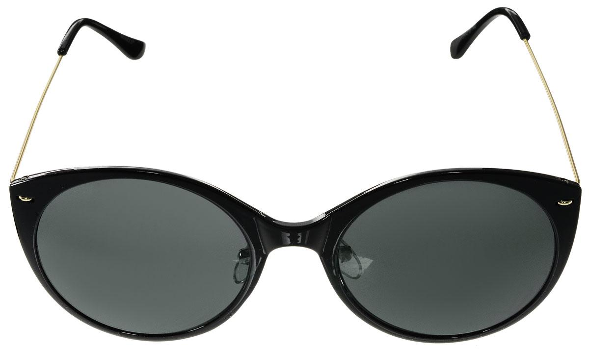 Очки солнцезащитные женские Vitacci, цвет: черный, золотой. O165O165Стильные солнцезащитные очки Vitacci выполнены из металла и высококачественного пластика. Линзы данных очков обладают высокоэффективным поляризационным покрытием со степенью защиты от ультрафиолетового излучения UV400. Используемый пластик не искажает изображение, не подвержен нагреванию и вредному воздействию солнечных лучей. Оправа очков легкая, прилегающей формы, дополнена носоупорами и поэтому обеспечивает максимальный комфорт. Такие очки защитят глаза от ультрафиолетовых лучей, подчеркнут вашу индивидуальность и сделают ваш образ завершенным.