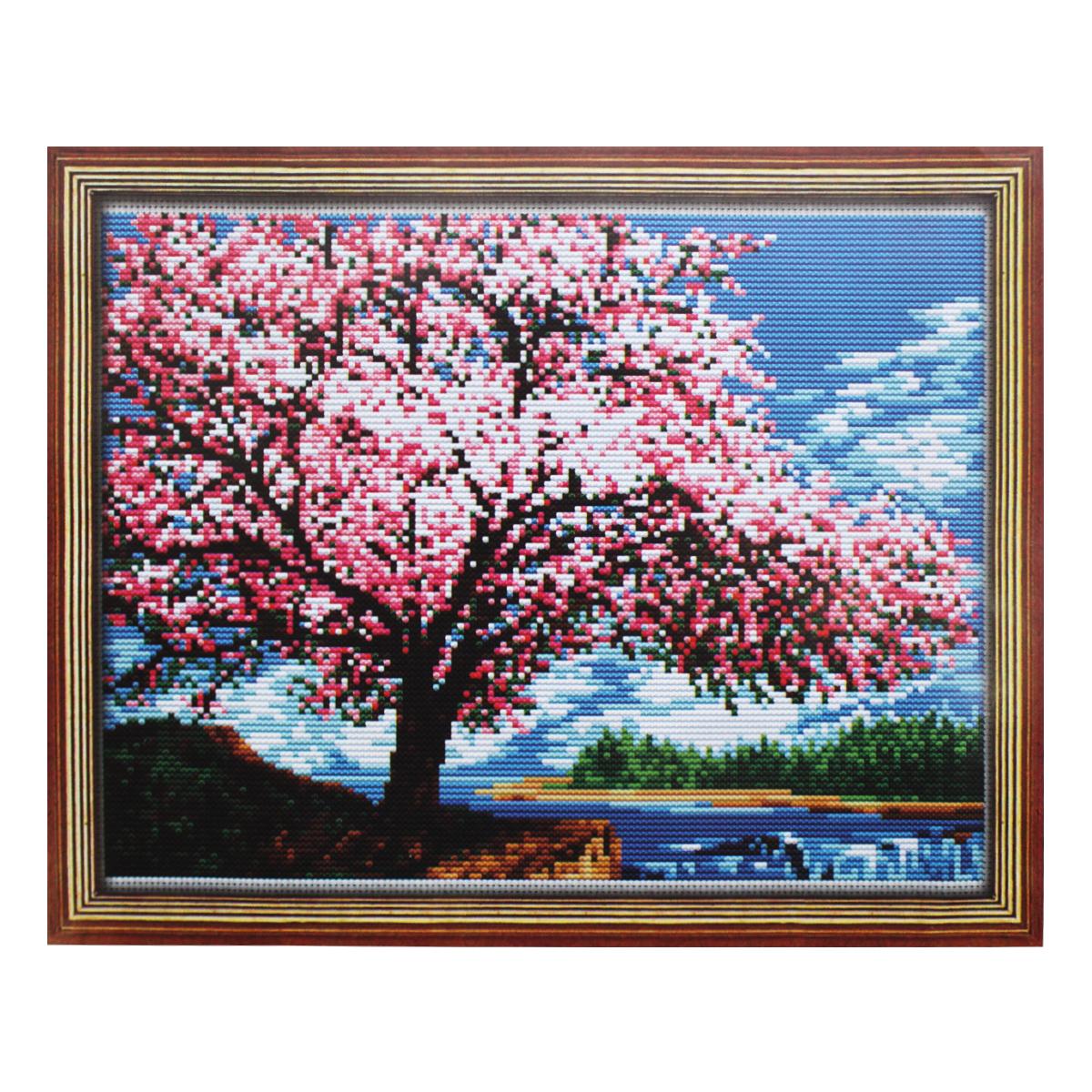 Набор для вышивания Lutars Цветущая яблоня, 27 х 20 см484953Красочные наборы от бренда Lutars станут приятным дополнением к любому интерьеру. В состав набора для вышивания Lutars Цветущая яблоня входит: канва Aida белая или цветная, мулине - 19 цветов, цветная схема, инструкция.