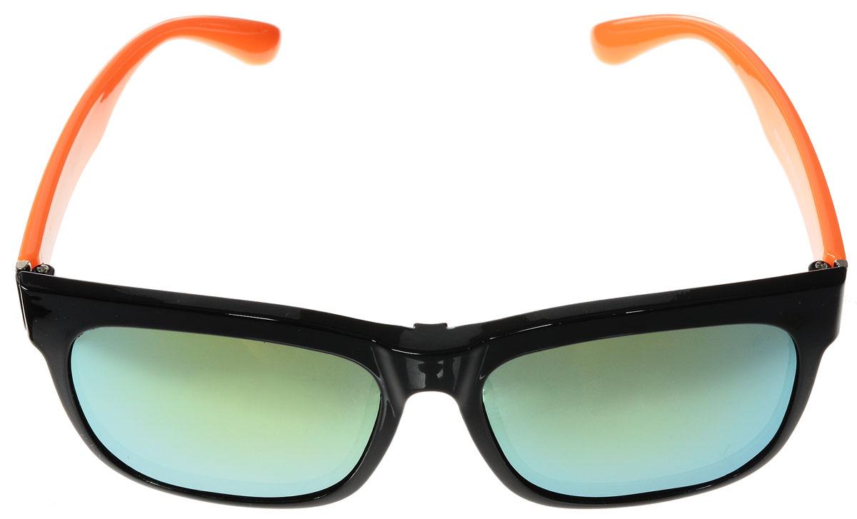 Очки солнцезащитные женские Vitacci, цвет: черный, оранжевый. H30H30Стильные солнцезащитные очки Vitacci с прозрачными поляризационными линзами в пластиковой оправе дополнены съемными затемненными линзами. Линзы обладают высокоэффективным поляризационным покрытием со степенью защиты от ультрафиолетового излучения UV400. Используемый пластик не искажает изображение, не подвержен нагреванию и вредному воздействию солнечных лучей. Оправа очков легкая, прилегающей формы и поэтому обеспечивает максимальный комфорт. Такие очки защитят глаза от ультрафиолетовых лучей, подчеркнут вашу индивидуальность и сделают ваш образ завершенным.