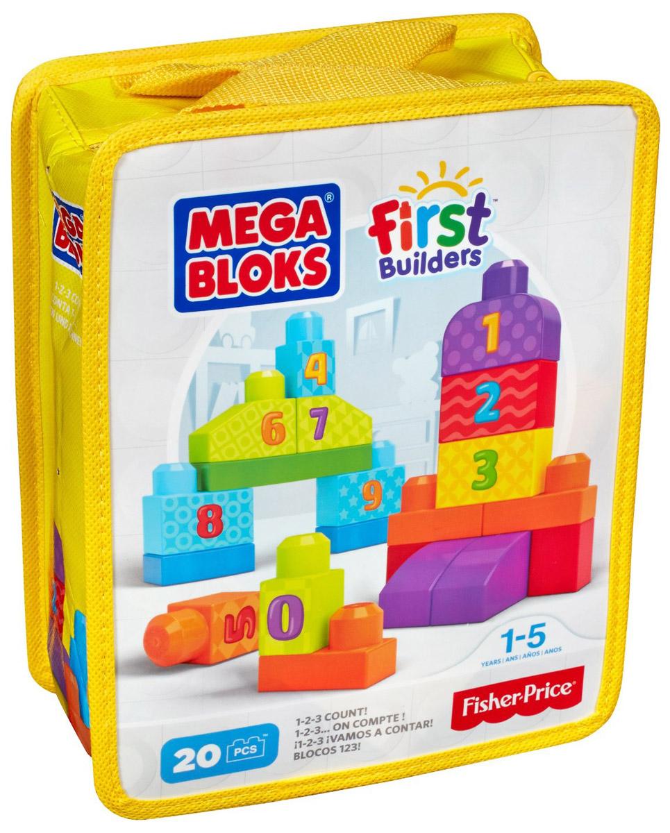 Mega Bloks First Builders Конструктор Учимся считатьCNH08_DLH85Строить и изучать цифры очень весело с набором Учимся считать от Mega Bloks серии First Builders! Теперь ваш малыш может научиться считать до 10, начав строительство с 20 блоками, на которых нанесены цифры от 0 до 9. Используйте яркие блоки, чтобы строить высокие башни, ряды цифр, а также все, что только сможете вообразить. Стройте, перестраивайте и считайте до десяти! Размер элементов идеально подходит для маленьких ручек. Набор поставляется в удобной сумке. Совместим со всеми наборами First Builders.