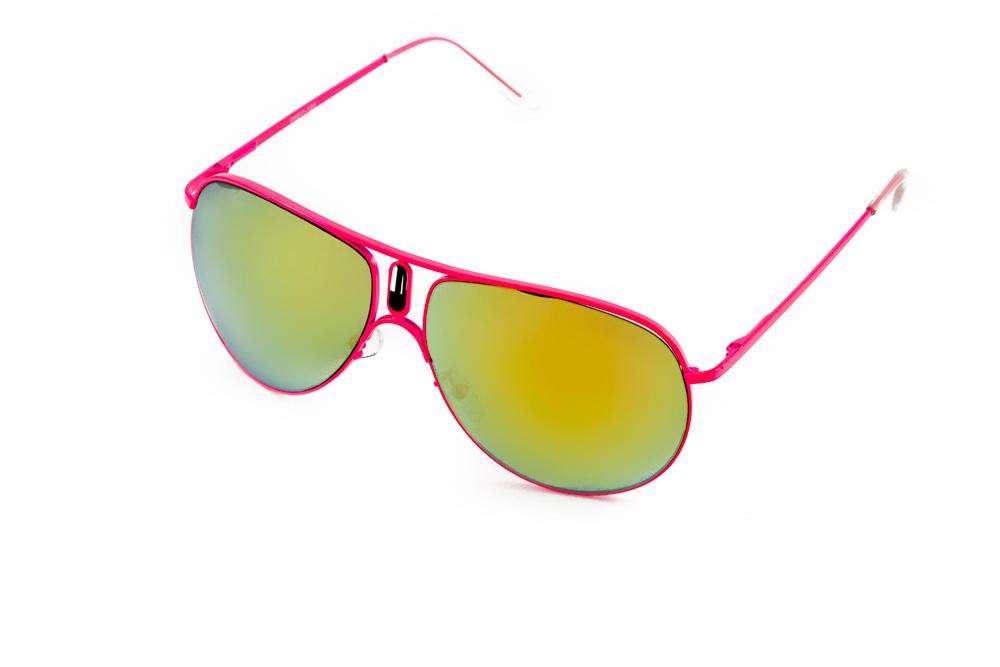 Очки солнцезащитные Mitya Veselkov, цвет: розовый, желтый. P1011-120PMP1011-120PMСтильные солнцезащитные очки Mitya Veselkov выполнены из металла и высококачественного пластика. Линзы данных очков дополнены зеркальным покрытием. Используемый пластик не искажает изображение, не подвержен нагреванию и вредному воздействию солнечных лучей. Оправа очков легкая, прилегающей формы, дополнена носоупорами и поэтому обеспечивает максимальный комфорт. Такие очки защитят глаза от ультрафиолетовых лучей, подчеркнут вашу индивидуальность и сделают ваш образ завершенным.
