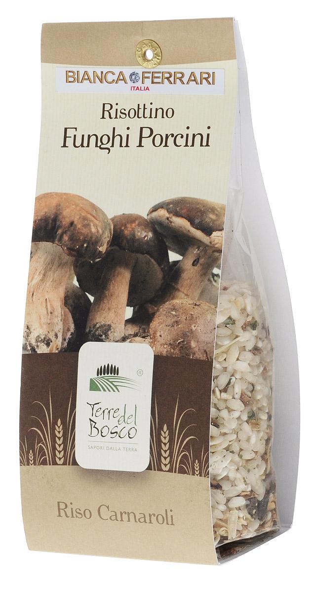 Terre Del Bosco Белый гриб рис для ризотто, 250 гBF.003.RATerre Del Bosco Белый гриб - превосходный тонкий рис высшего сорта с белыми грибами для ризотто. В состав также входят петрушка, лук и чеснок. Варить в подсоленной кипящей воде медленно помешивая.