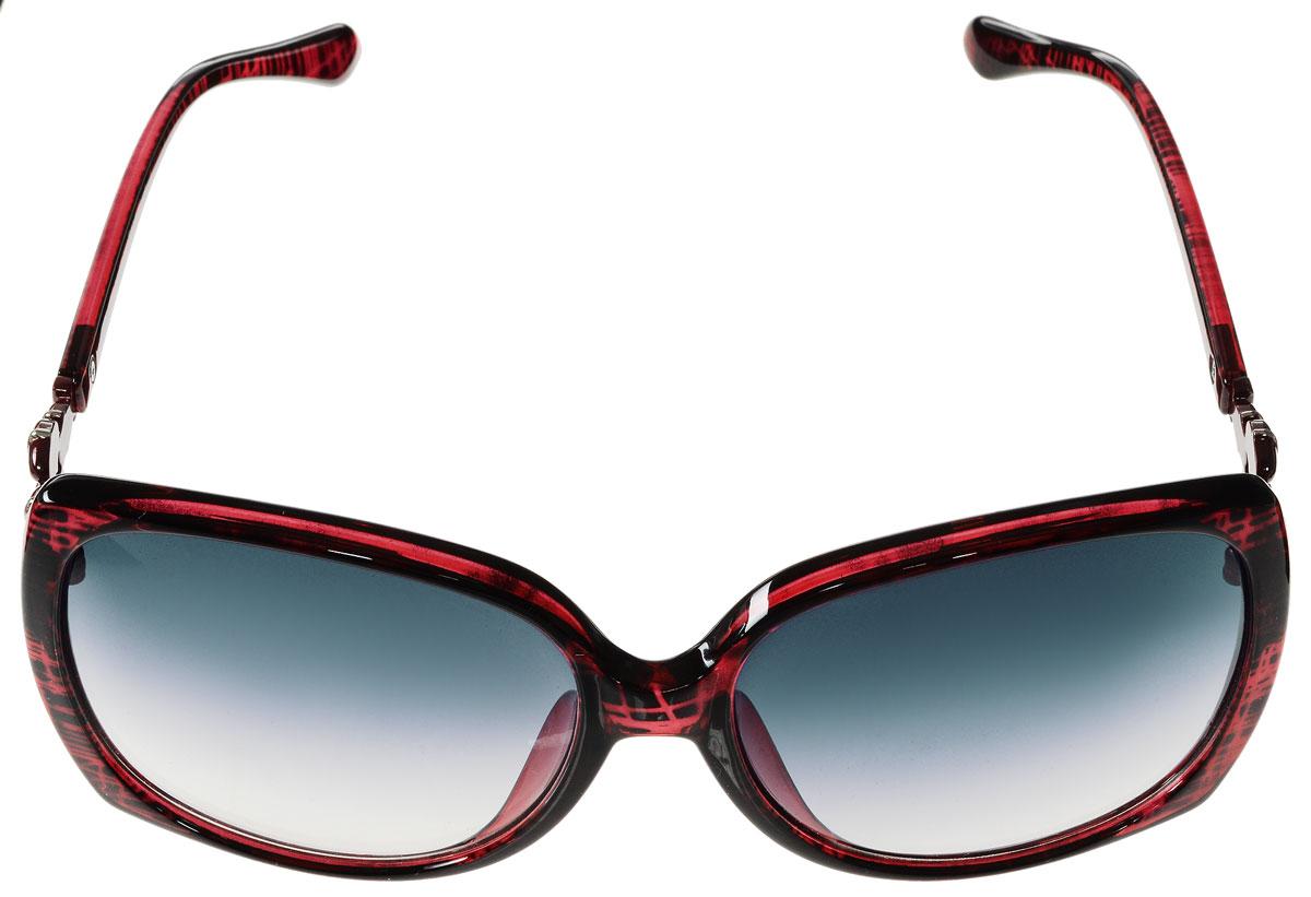 Очки солнцезащитные женские Vitacci, цвет: красный. G151G151Стильные солнцезащитные очки Vitacci выполнены из высококачественного пластика с элементами из металла. Линзы данных очков имеют степень затемнения С2, а также обладают высокоэффективным поляризационным покрытием со степенью защиты от ультрафиолетового излучения UV400. Используемый пластик не искажает изображение, не подвержен нагреванию и вредному воздействию солнечных лучей. Оправа очков легкая, прилегающей формы и поэтому обеспечивает максимальный комфорт. Дужки очков дополнены декоративными элементами из металла. Такие очки защитят глаза от ультрафиолетовых лучей, подчеркнут вашу индивидуальность и сделают ваш образ завершенным.